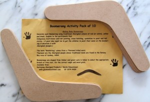 Activity Pack - Boomerangs - Pack of 10 - Decorate your own each